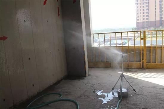 洒水商品混凝土养护